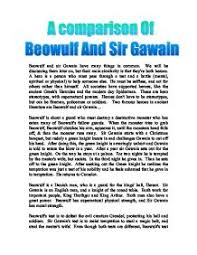a comparison of beowulf and sir gawain a level english marked  page 1 zoom in