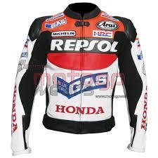 honda repsol dazzler motorbike racing leather jacket mrlj1017