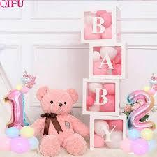 Online Shop Transparent Box DIY letter <b>Balloon</b> Baby <b>1st</b> Birthday ...