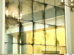 antique mirror panels for walls glass blotchy heavy wall tiles antiqued mercury stagger with rose