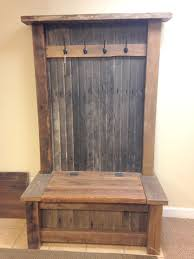 Rustic hall tree bench Wooden Rustic Hall Tree Furniture Perfect For Your Mud Room Includes Perfect Place To Hide Your Shoes barnwood reclaimed diy Pinterest Rustic Hall Tree Furniture Perfect For Your Mud Room Includes