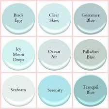 aqua paint colorsALL BENJAMIN MOORE  BLUE SEAFOAM GOSSAMER BLUE GLACIER BAY