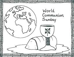 First Communion Coloring Pages Holy Communion Coloring Pages For