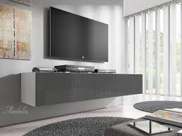 Tv Meubel Flame Grijs Wit 160 Cm Meubella