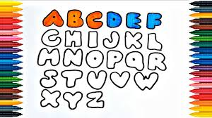 Use your alphabet coloring page letters for you should slide crayon on these bold abc coloring sheets. Abc Alphabet Drawing Alphabet How To Draw And Paint Alphabet Coloring Book Fun Painting Youtube