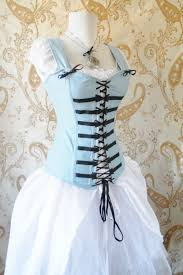 Light Blue Steampunk Dress Alice Corset Light Blue Corset Only Made To Your