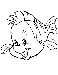 Small Picture Cute Cartoon Flounder Fish Coloring Page H M Coloring Pages