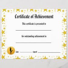 Dance Award Certificate Dance Certificate Of Achievement Stars Lyrical