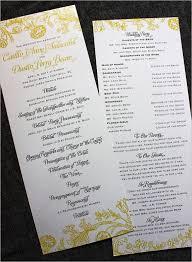 Wedding Program Designs Creative Wedding Programs 21st Bridal World Wedding Ideas And