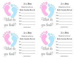 Gender Reveal Invitation Templates Free Printable Baby Gender Reveal Invitations Invitation