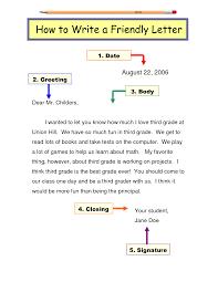 friendly letter template tczscin4