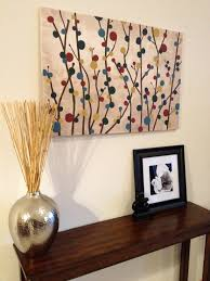 Diy Canvas Painting Diy Simple Canvas Painting Of Branches And Blooms Things Ive