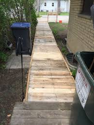 pallet walkway my projects walkways front