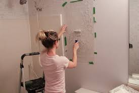 image of stencil wall art diy