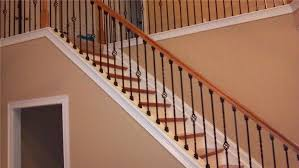 indoor stair railing kits wrought iron spindles for interior stairs