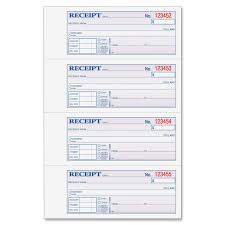 sample receipt book template 5 best adams money and rent receipt book 2 part