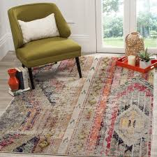 safavieh monaco vintage bohemian light grey multi distressed rug for 4 x 7 plans 11