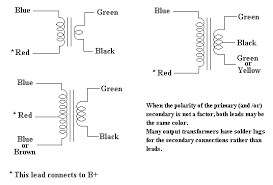 output transformer impedance rma color codes for output transformers