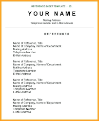 Resume References Template Cool Curriculum Vitae References Example Zerogravityinflatablesus