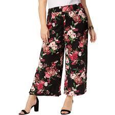 Inc International Concepts Plus Size Floral Print Wide Leg