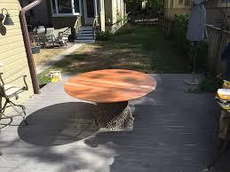 Tree stump furniture Tree Seats Garden Tree Stump Table Youtube Tree Stump Table Wehrli Furniture