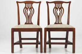 Chippendale Furniture Set Of Ten English Chippendale Mahogany Antique Dining Chairs