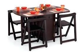 folding dining table and chairs set 4 wooden furniture l for philippines