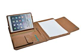ipad portfolio with paper holder and angled viewing stand icarryalls leather fashion