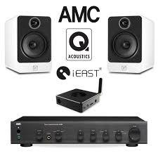 office speaker system. office audio pack with amc stereo amp u0026 q acoustics speakers ieast wireless streamer bun900515 speaker system o