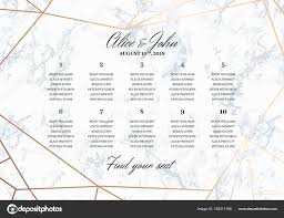 Wedding Seating Chart Poster Template Stock Vector Radionastya