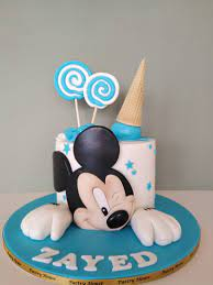 blue mickey mouse cake pastry house