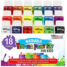 washable paint for wallsAmazoncom Handy Art Little Masters Tempera Paints Set 16 oz