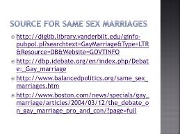 sources for persuasive essay body paragraph activity ppt source for same sex marriages