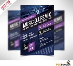 Event Flyers Free Music Event Flyer Template Free Psd Psdfreebies Com