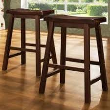 @Overstock - These Salvador stools features a saddle back design in a warm  cherry finish