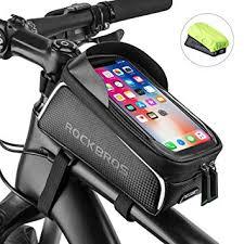 ROCK BROS Bike Phone Bag Bike Front Frame Bag ... - Amazon.com