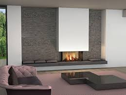 modern fireplace on the wall