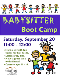 Things To Do With A Babysitter Babysitter Boot Camp Tooele City