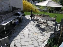 here is a natural stone patio e75