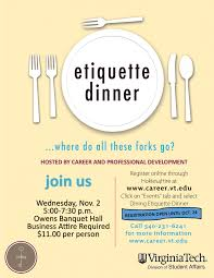 Fall Etiquette Dinner Career And Professional Development - Dining room etiquette