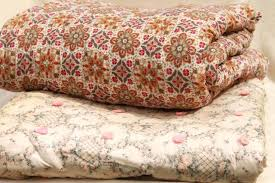 Quilts And Comforters – co-nnect.me & ... Shabby Chic Vintage Print Cotton Quilt Comforters Soft Warm Tied Quilts  Bedspreads Quilts And Coverlets Twin ... Adamdwight.com