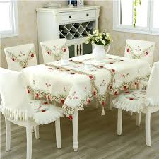 kitchen table covers embroidery hotel dining table cloth rectangle round kitchen table chair covers