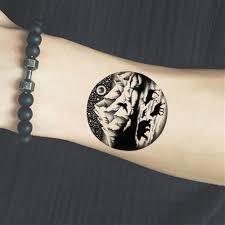 временные татуировки наклейки женщины боди арт живопись круглые поддельные