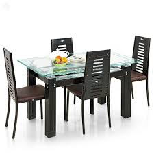 curtain alluring glass dining table set 4