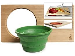 bamboo over the sink cutting board home woot with sink cutting board with colander