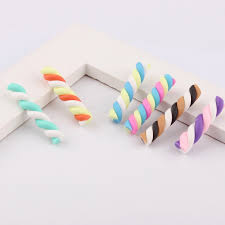<b>High Quality</b> 6colors 3*22mm 20pcs Kawaii Spiral Lollipop Candy ...