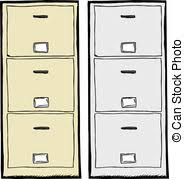 file cabinets clip art. Exellent Art Filing Cabinet Illustration  Front View Of Isolated Metal And File Cabinets Clip Art N