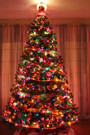 Christmas Tree With White And Multicolor Lights I Do All White And Silver But I Love The Traditional