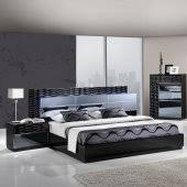 cheap modern furniture. Manhattan Bedroom In Black By Global W/Platform Bed \u0026 Options Cheap Modern Furniture O
