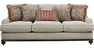 Cindy Crawford Home 89999 Bali Breeze Taupe Sofa Classic Transitional Textured